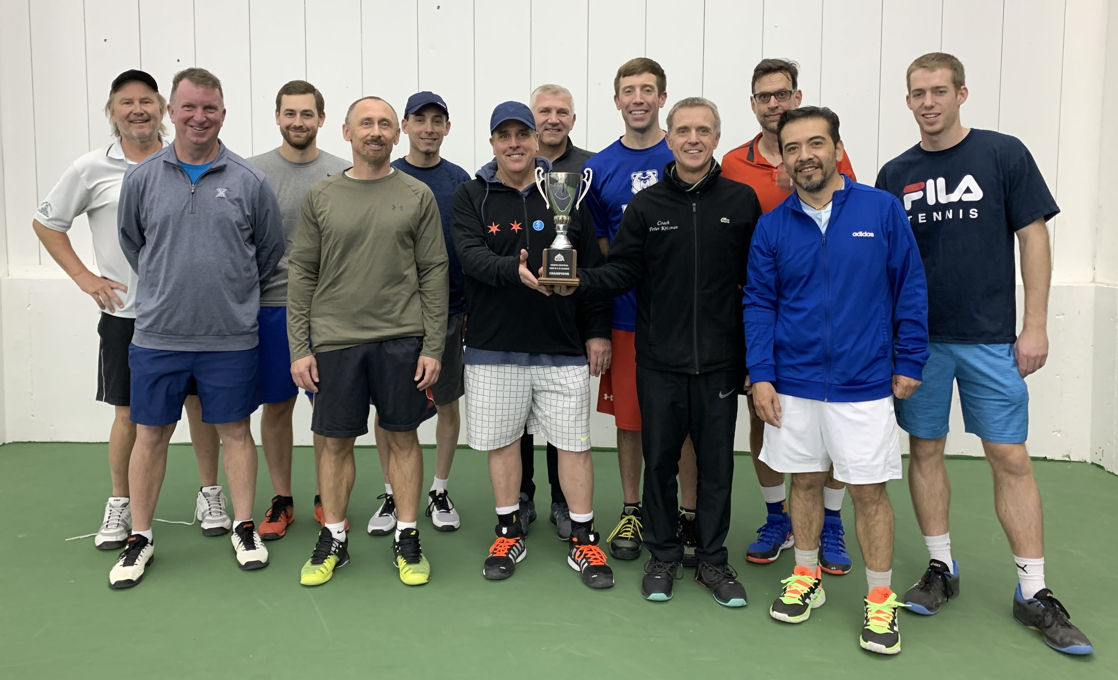 Racquet Club Lake Bluff winners of the Mens 4.5 Doubles